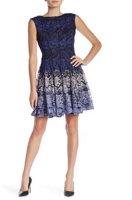 Gabby Skye Cap Sleeve Lace Dress