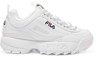 Fila Disruptor Ii Premium Logo-embroidered Leather Sneakers - White