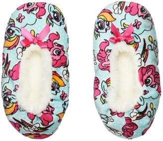 Girls 4-16 My Little Pony Pinkie Pie & Rainbow Dash Bow Fuzzy Babba Slippers