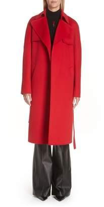 Michael Kors Wool & Angora Blend Belted Coat