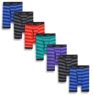 Fruit of the Loom Boys' Super Value Striped Boxer Briefs, 7 Pack