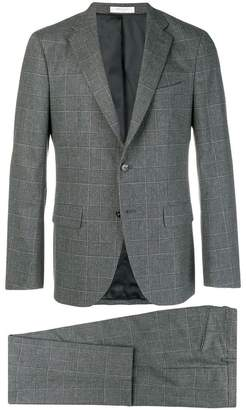 Boglioli windowpane check suit