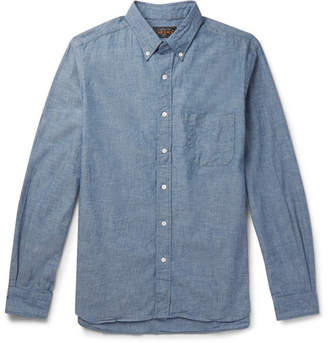 Beams Button-Down Collar Cotton-Chambray Shirt