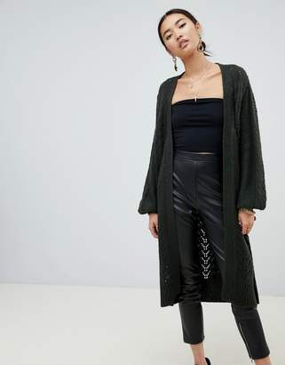 NA-KD long cardigan in green
