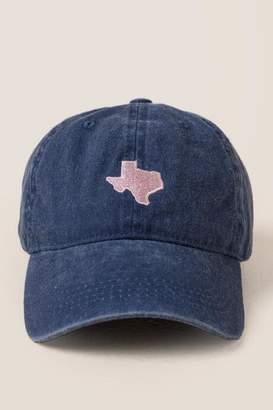 francesca's Texas Baseball Cap - Navy