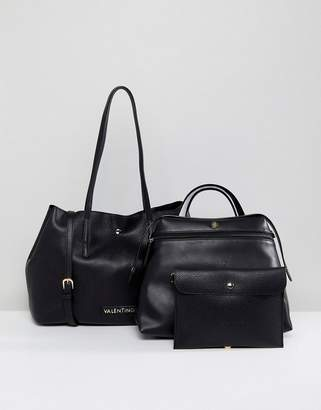 Mario Valentino Valentino By Slouchy 3 In 1 Tote Bag In Black