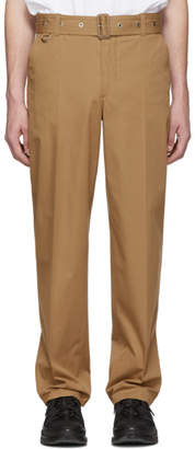 Burberry Brown Belted Trousers