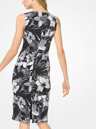 Michael Kors Floral Stretch-Cady Sheath Dress