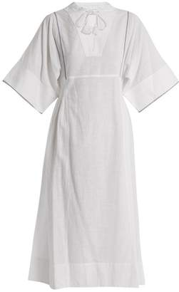 Sea Vienna Bell Sleeve Cotton Voile Dress - Womens - White