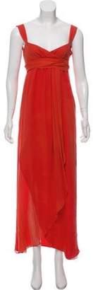 Valentino Silk Evening Dress Orange Silk Evening Dress