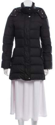 Burberry Hooded Down Jacket Black Hooded Down Jacket