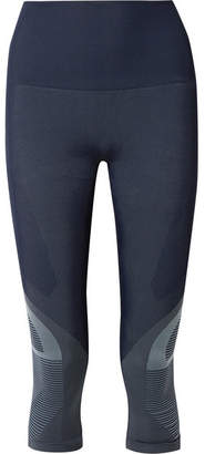 LNDR - Spectrum Cropped Paneled Stretch-knit Leggings - Navy