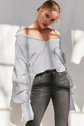 Style Mafia Oversized Button-Down Shirt $95 thestylecure.com