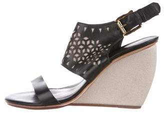 Rebecca Minkoff Leather Laser-Cut Wedges