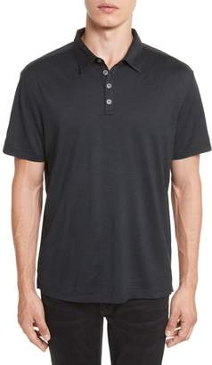 John Varvatos Collection 'Hampton' Silk & Cotton Polo