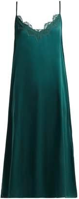 Icons Art Cornflower silk slip dress