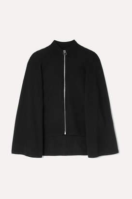Givenchy Wool And Cashmere-blend Cape Cardigan - Black