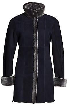 The Fur Salon Women's Reversible Shearling & Suede Jacket