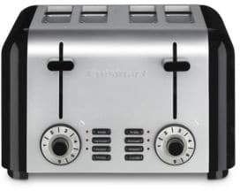 4-Slice Compact Stainless Toaster