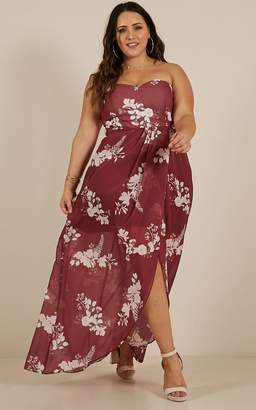 Showpo Shes So Perfect Dress in wine floral - 4 (XXS) Shop By Product