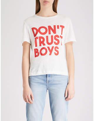 Claudie Pierlot Maillie linen T-shirt