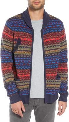 The Rail Broken Pattern Cotton Blend Cardigan
