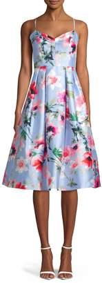 Eliza J Floral Sleeveless Fit--Flare Dress