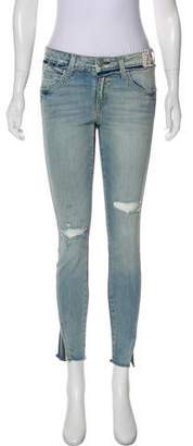 Amo Twist Two-Tone Mid-Rise Jeans