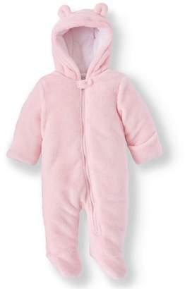 Minky Wonder Nation Bear Ear Plush Snowsuit Pram (Baby Girls)