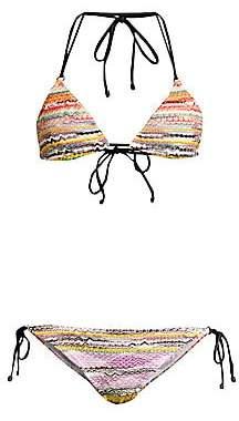 Missoni Mare Women's Maglieria Multifiammata Two-Piece String Bikini Set