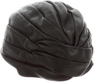 Saint LaurentSaint Laurent Pleated Leather Turban