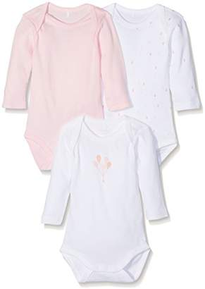 Name It Baby Girls Nbfbody 3p Ls Ballerina Noos Long Sleeve Bodysuit (Pack of 3),(Manufacturer Size: 74)