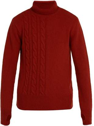 Oliver Spencer Talbot Roll Neck Wool Sweater - Mens - Orange