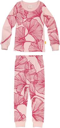 Masala Baby Ginkgo Print Organic Cotton Fitted Two-Piece Pajamas