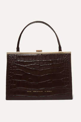 Chylak - Vintage Clasp Croc-effect Leather Tote - Brown