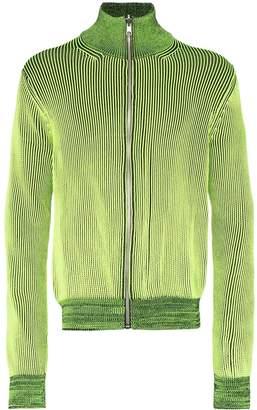 Maison Margiela zip-embellished knit cardigan