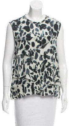 Nicole Miller Silk Tiered Top w/ Tags $70 thestylecure.com