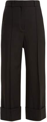 RACIL Leonard side-stripe wide-leg wool cropped trousers