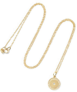 Andrea Fohrman Full Moon Phase 18-karat Gold Diamond Necklace