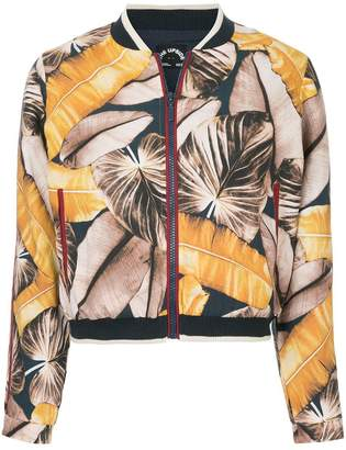 The Upside tropical print bomber jacket