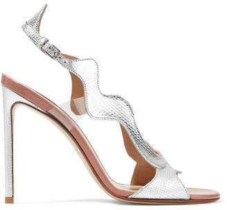 Francesco Russo Pvc-trimmed Metallic Karung Sandals - Silver