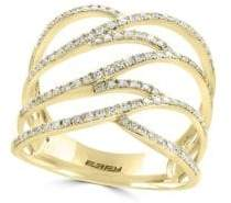 Effy 14K Yellow Gold & Diamond Ring