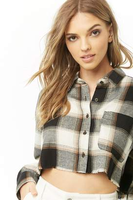 Forever 21 Cropped Plaid Shirt