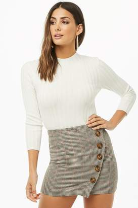 Forever 21 Ribbed Knit Mock Neck Top