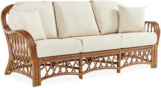 Antigua Rattan Sofa - Natural/White - South Sea Rattan