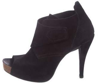 Pedro Garcia Suede Ankle Booties Black Suede Ankle Booties