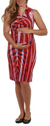 24/7 Comfort Apparel Tiger Orchid Maternity Sheath Dress-- available in Plus sizes