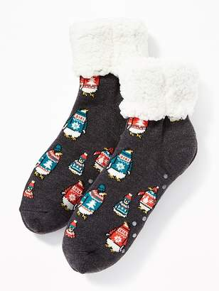 Old Navy Patterned Sherpa Slipper Socks for Women