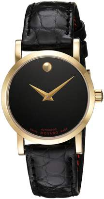 Movado Women's 0607010 Swiss Leather Automatic Watch