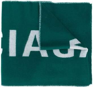 Balenciaga logo knitted scarf